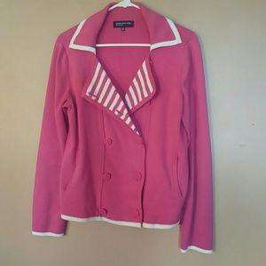 Jones New York M Pink, White Jacket